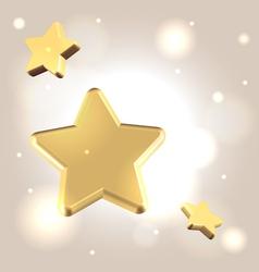 Golden starry background vector image