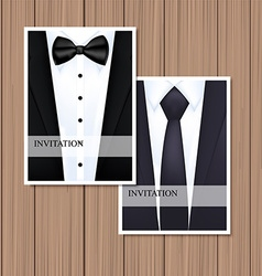 Greeting card with suit vector image