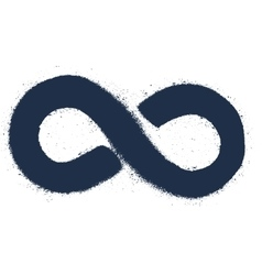 Grunge drawing infinity sign vector