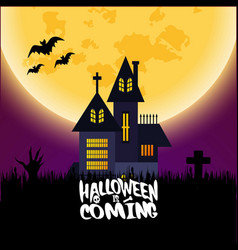 Halloween is comming typography with creative vector