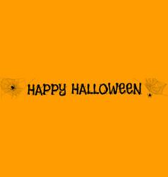 halloween orange banner vector image