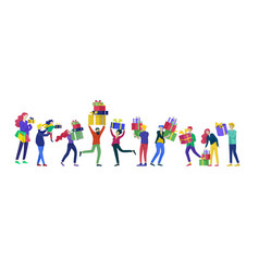 happy christmas day celebrating together happy vector image