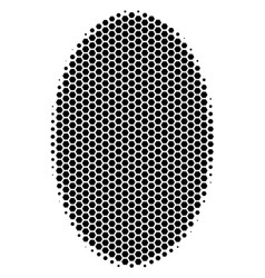 Hexagon halftone filled ellipse icon vector