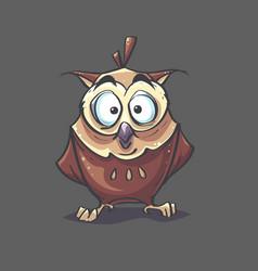 image background eagle-owl vector image