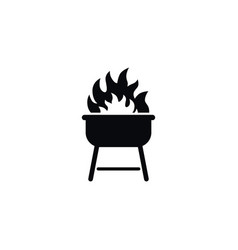 Isolated cooked icon flame element can be vector