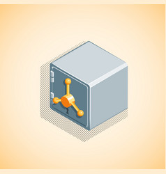 isometric bank safe vector image