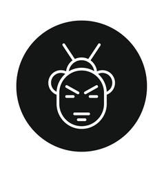 japan samurai icon isolated on white background vector image