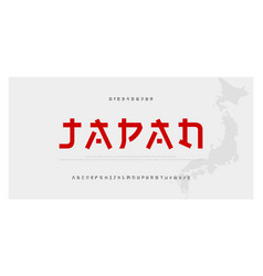 Japanese modern style alphabet font typeface vector