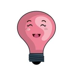 kawaii cartoon bulb vector image
