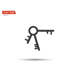 Key icon flat logo classic style vector