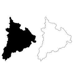 kon tum province map vector image
