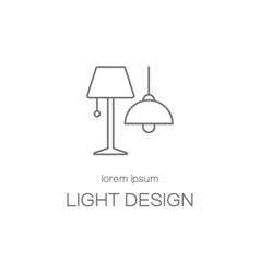 Light desigh house logotype design templates vector