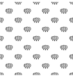Magnified lenses pattern simple style vector