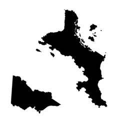 Map seychelles and victoria country and capital vector