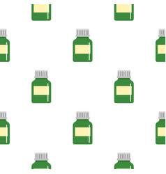 medicine bottle pattern seamless vector image