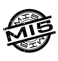 Mi5 rubber stamp vector