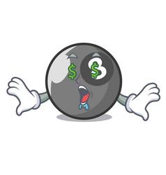 money eye billiard ball mascot cartoon vector image