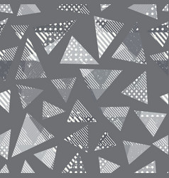monochrome grunge triangle pattern vector image
