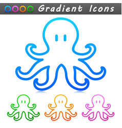 octopus symbol icon design vector image