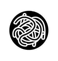 Parasitic worms ascaris glyph icon vector