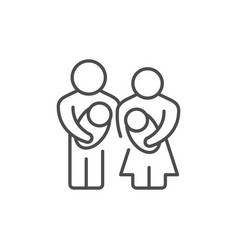 parents and baline outline icon vector image