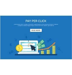 Pay Per Click internet marketing concept - flat vector