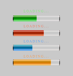 preloaders and progress loading bars vector image