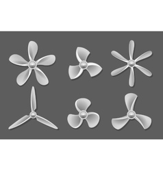 Propeller icons vector