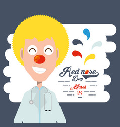 red nose day design vector image