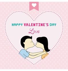 Romantic card77 vector image