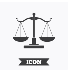 Scales of Justice sign icon Court of law symbol vector image