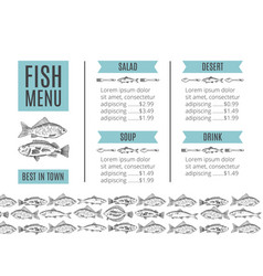 Seafood design fish menu vector