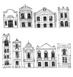 Set of different houses vector