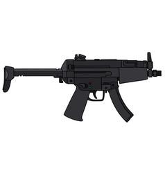 Small submachine gun vector