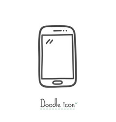 smart phone doodle icon vector image