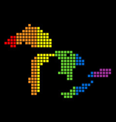 Spectrum dotted lgbt great lakes map vector