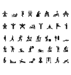 Sport Stick Figure vector