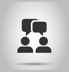 talk people icon in flat style man with speech vector image