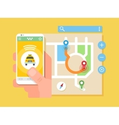 Taxi application vector image