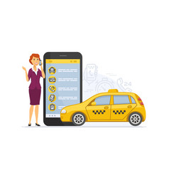 taxi service - modern cartoon character vector image
