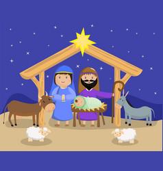 Three wise men bring presents to jesus in vector
