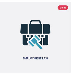Two color employment law icon from law and vector