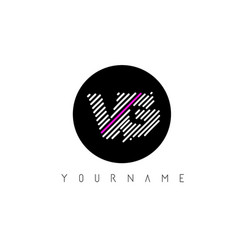 Vg letter logo design with white lines and black vector