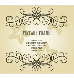 vintage frame for design vector image