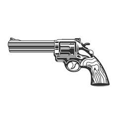 Vintage revolver handgun template vector