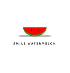 Watermelon smile template design vector