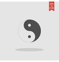 Yin Yang Symbol - Black and White vector image