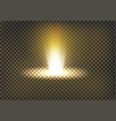 a golden light ray a light vector image