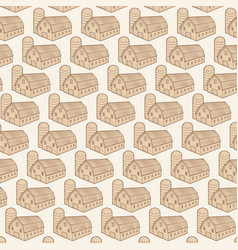 background pattern with barn and silo vector image