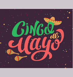 cinco de mayo mexican holiday text banner for vector image